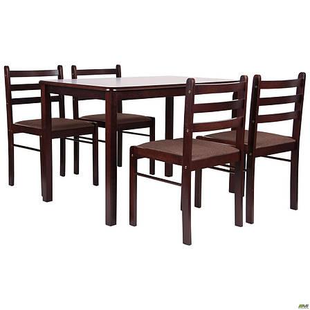 Обеденная группа Брауни темный шоколад эспрессо, стол и 4 стула, фото 2