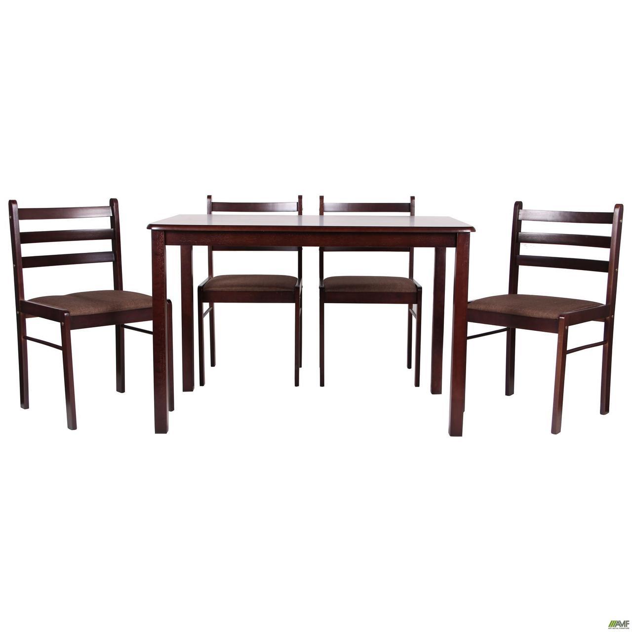 Обеденная группа Брауни темный шоколад эспрессо, стол и 4 стула