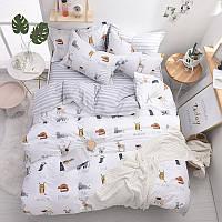 Комплект постельного белья Животные (двуспальный-евро) Berni
