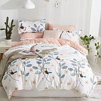 Комплект постельного белья Птица на ветке (двуспальный-евро) Berni