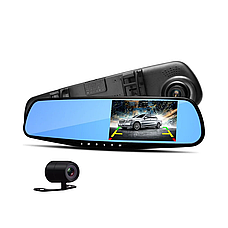 Видеорегистратор в зеркале с камерой заднего вида накладной FULL HD, камера заднего вида, регистратор в машину, фото 3