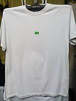 Мужская белая футболка однотонная