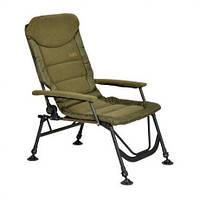 Кресло карповое Elektrostatyk FK7 SUPRA с мягкими подлокотниками и регулируемой спинкой (до 120 кг)