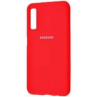 Силиконовый чехол-накладка Silicone cover для Samsung Galaxy А7 2018 А8 Plus 2018 Красный 14470, КОД: 1213365