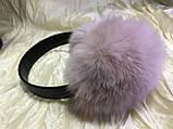 Навушники з хутра кролика колір персик, фото 6