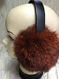 Навушники з хутра кролика колір персик, фото 9