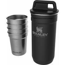 Набор STANLEY Adventure черная туба + 4 рюмки (металик) ST-10-01705-036