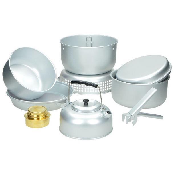 Набор посуды MIL-TEC с горелкой алюминий (14700500)