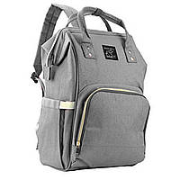 Сумка-рюкзак Lesko мультифункциональный органайзер для мамы Серый 3002-8825а, КОД: 1282646