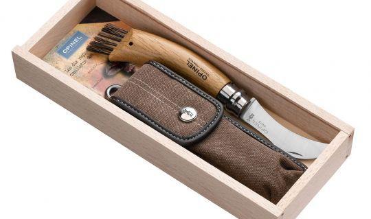 Нож для грибов Opinel Chapighon blister №8 VRN с чехлом в пенале  (001327), Франция