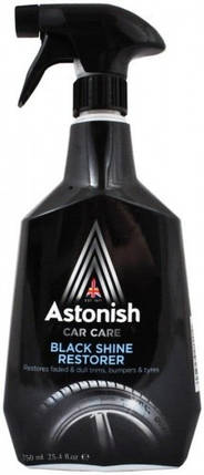 Засіб для відновлення чорного кольору шин Astonish Black Shine Restore 750 мл., фото 2