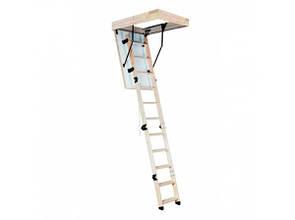 Лестница на чердак складная деревянная Oman Long Termo S (высота до 335 см)