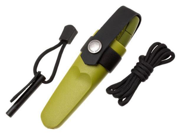 Нож с фиксированным лезвием MORA Eldris, 143мм, зеленый 12633 (нож ,ножны, огниво, паракорд, застёжк