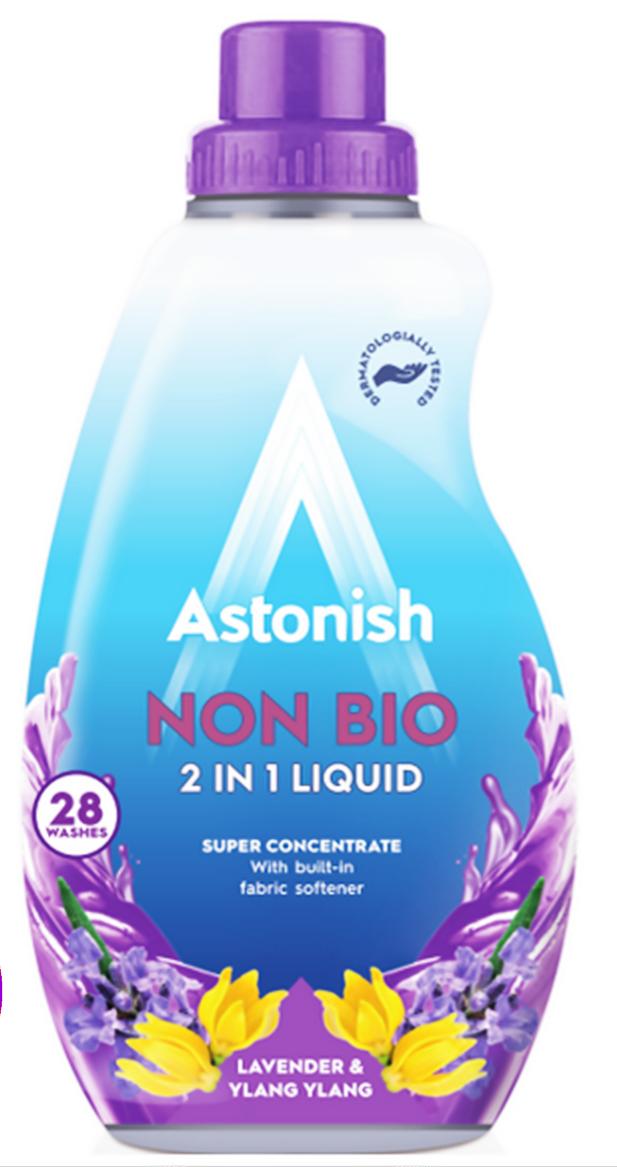 Концентрований гіпоалергенний гель для прання Astonish 2in1 lavander & ylang ylang  840 ml