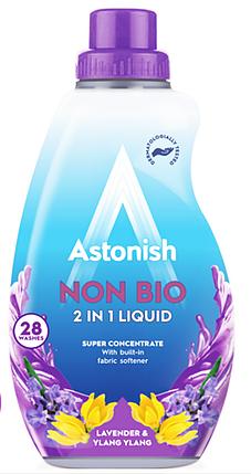 Концентрований гіпоалергенний гель для прання Astonish 2in1 lavander & ylang ylang  840 ml, фото 2