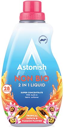 Концентрований гіпоалергенний гель для прання Astonish 2in1 tropical papaya & passion flover 840 ml, фото 2