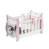 Деревянная игрушка Кровать для куклы Kronos Toys 54724 63 x 38 x 28 см Бело-розовый int54724, КОД: 961359