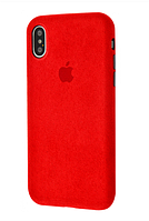 Чехол Grand Alcantara 360 Protect для iPhone Xs Max Red, КОД: 1315699