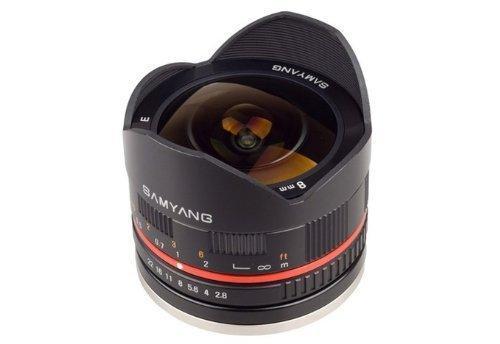 Объектив Samyang 8mm f/2.8 UMC Fish eye II Рыбий глаз для Fuji X