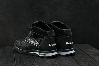 Мужские кроссовки кожаные зимние черные-серые CrosSAV 50, фото 2