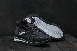 Мужские кроссовки кожаные зимние черные-серые CrosSAV 50, фото 3