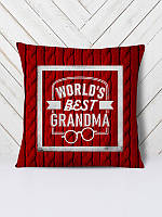 Декоративная подушка с 3D принтом, сублимация ReD Best Grandma