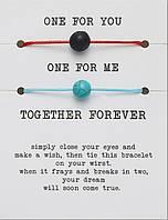 """Комплект браслетов, парные браслеты """"Красная нить"""" /бижутерия/ браслет для желания 012"""