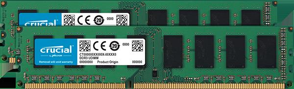 Оперативная память Crucial 16GB Kit (2 x 8GB) DDR3L-1600 UDIMM (CT2K102464BD160B)