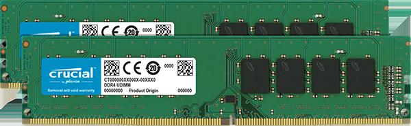 Оперативная память Crucial 32GB Kit (2 x 16GB) DDR4-2666 UDIMM (CT2K16G4DFD8266)