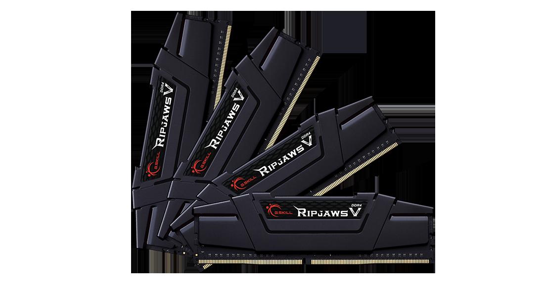 Оперативная память G.Skill RipJaws V 64GB Kit (4x16GB) DDR4-3200MHz CL16 DIMM (F4-3200C16Q-64GVK)