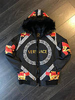 Мужская куртка Versace черная