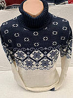 Стильный мужской теплый свитер (вязка), фото 1