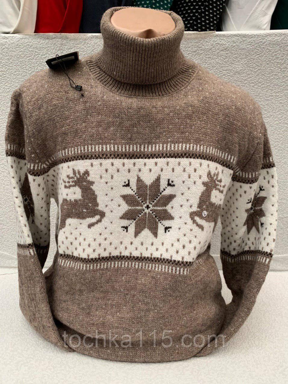 Стильный мужской теплый новогодний свитер