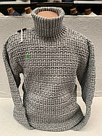 Вязанный теплый мужской свитер, фото 1