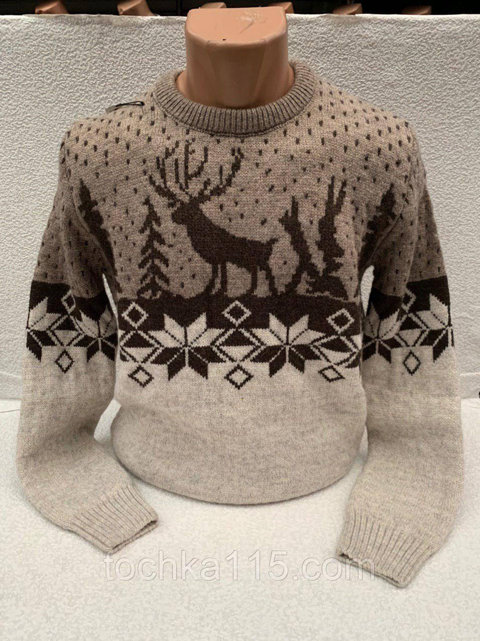 Невероятно теплый мужской свитер с оленями