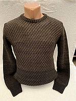 Теплый вязанный мужской свитер