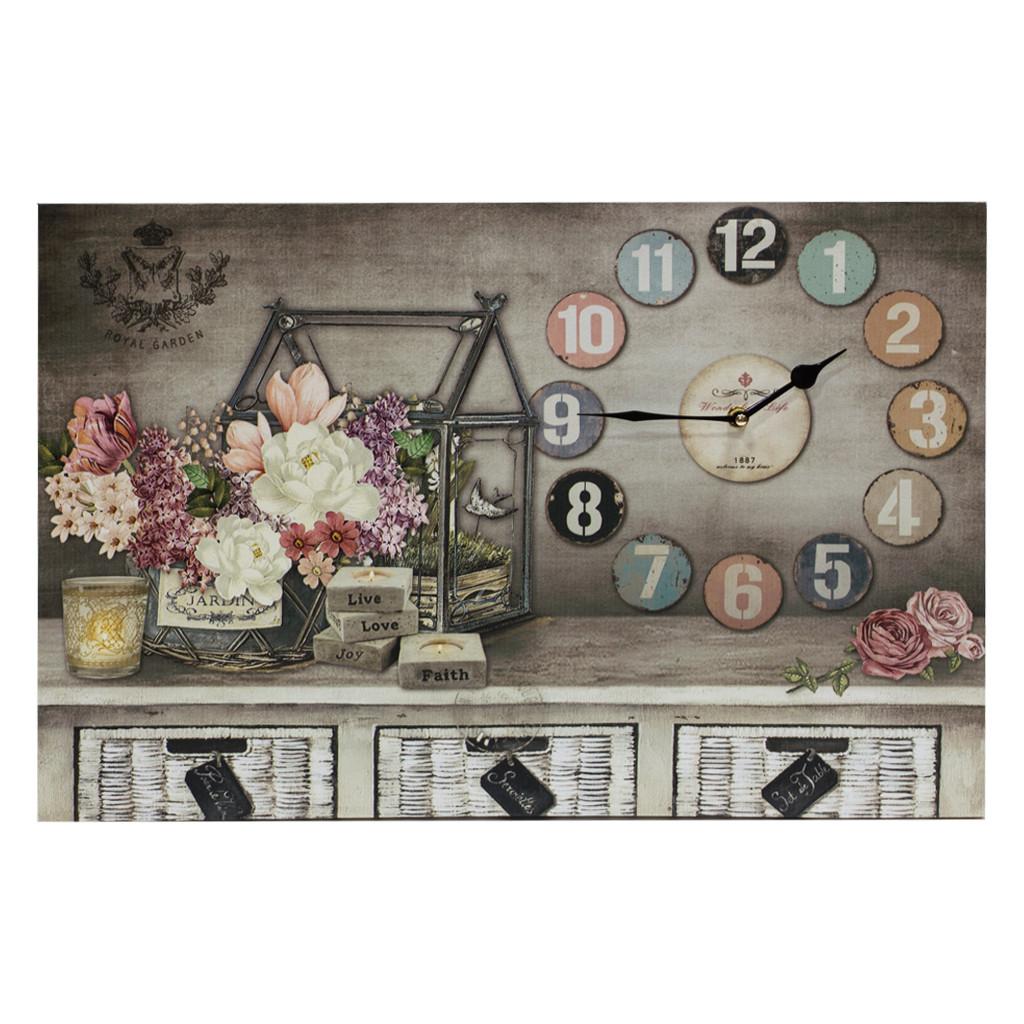 """Часы-картина с подсветкой """"Композиция в домике 60см 109385"""