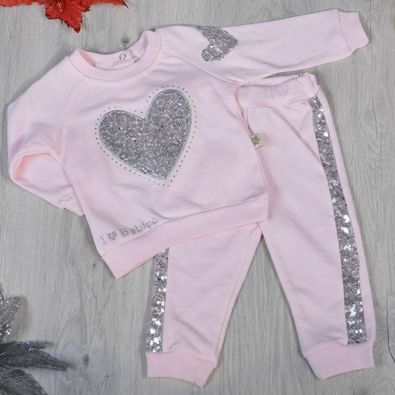 Детский трикотажный комплект6-18 месяцев(сердечко), (3 ед в уп)
