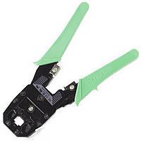 Клещи Lesko для опрессовки штекеров RJ11  RJ12   RJ45 Green 1269-6743а, КОД: 1012785