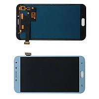 Дисплей модуль Samsung J400 Galaxy J4 2018 в зборі з тачскріном, блакитний, Oled