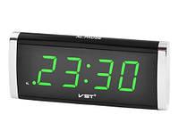 Настольные часы с зеленой подсветкой VST 730