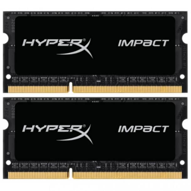 Память Kingston 16 GB (2x8GB) SO-DIMM DDR3L 1600 MHz HyperX IMPACT (HX316LS9IBK2/16)