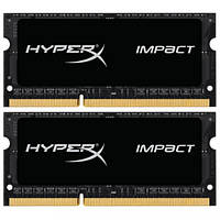Память Kingston 16 GB (2x8GB) SO-DIMM DDR3L 1600 MHz HyperX IMPACT (HX316LS9IBK2/16), фото 1