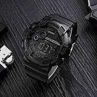 Оригинальные спортивные мужские часы Skmei 1243 Champion Черные  тактические