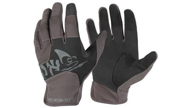 Перчатки тактические Helikon-Tex® All Round Fit Tactical Gloves® - Черные/Темно-серые