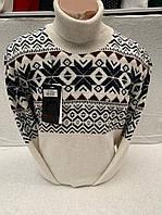 Мужской теплый новогодний свитер