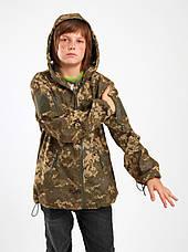 Куртка детская камуфляж OUTDOOR Вулкан Soft-Shell на флисе цвет Пиксель, фото 3
