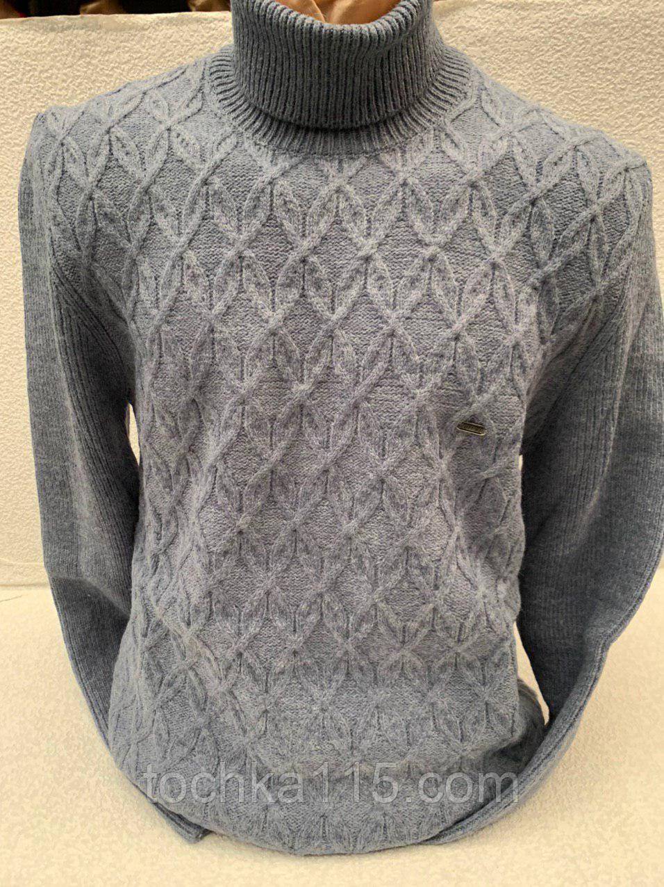 Мужской теплый свитер (вязка)