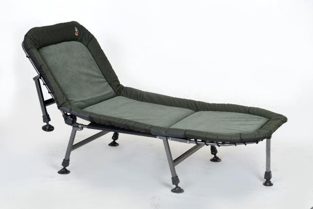 Раскладушка-кровать карповая Elektrostatyk L14 с регулируемой спинкой, 7 ножек, нагрузка до 100 кг