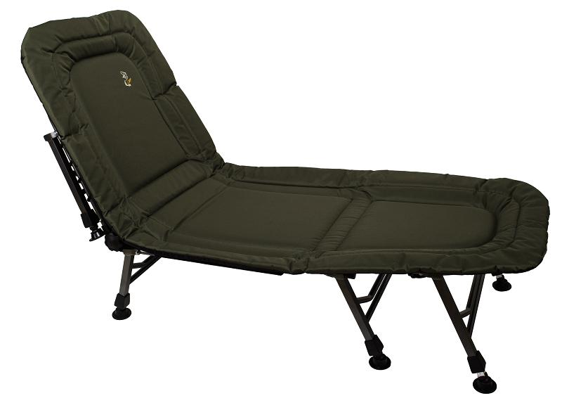 Раскладушка-кровать карповая Elektrostatyk L8 с регулируемой спинкой, 8 ножек, нагрузка до 120 кг